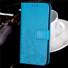 Fashion Flip Embossed Patterned PU Leather Card Pocket Kickstand Case Cover SYC2