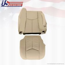 2003-2006 Cadillac Escalade Passenger Bottom & Lean Back Leather Seat Cover Tan