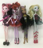 Monster High 4 Dolls Wolf Clawdeen Draculaura Lagoona Blue Operetta Clothes