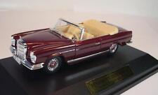 Faller 1/43 Mercedes Benz 220se Cabriolet W 111 (1961 - 1965) rouge NEUF dans sa boîte #2318