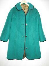 Jole-Modell Vintage Emerald Green Wool Coat Germany  Womens Size  6  WOR