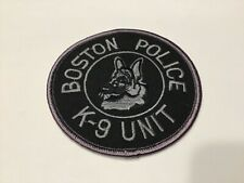 BOSTON POLICE K-9 UNIT SUBDUED  PATCH