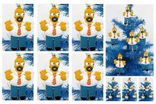 Cartoon Icon The Simpsons HOMER SIMPSON 6 Piece Holiday Christmas Ornament Set