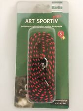 Art plus Tracking Lead - Black Red 8mm 5m Dog Lead