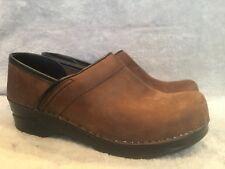 DANSKO Professional Oiled Brown Leather Clogs 38 Women's US Shoe Size 7.5 / 8
