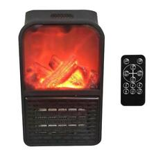 Portable 900W Electric Space Heater Bedroom Mini Radiator Plug-in Wall-outlet