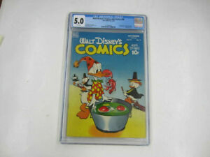 Dell Comics #98 WALT DISNEY'S COMICS and STORIES CGC 5.0 White Pages 11/48 1948