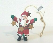 """Midwest Of Cannon Falls Santa Claus with Stars Ornament 3"""""""