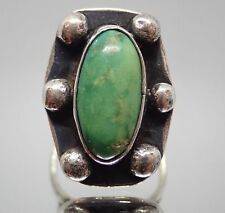 S- Hallmark Navajo Sterling Silver & Turquoise Southwest Ring Sz 7