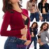 Giacca donna pull cardigan maniche lunghe maglione perline sexy nuovo 1009-MOD