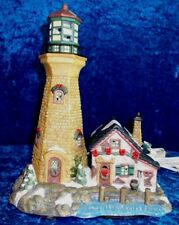 HAND PAINTED PORCELAIN LIGHTHOUSE ILLUMINATED HOLIDAY COLLECTION (224)