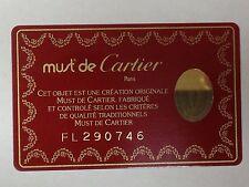 Cartier Guarantee card (blank)