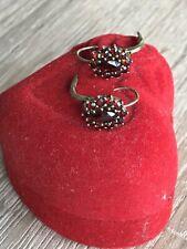 Ohrringe 333er Gold mit Granat Steinen