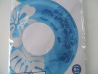 """INFLATABLE Swimming Pool BLUE CLEAR COLOR FLOWER 36"""" TUBE RING FLOAT INTEX"""