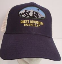 Quest Outdoors Hat Cap Trucker  Louisville KY USA Embroidery New