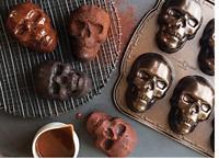 Spooky Tombstone Halloween Cakelet Pan Baking Heavy Aluminum NEW NWT MSP $59