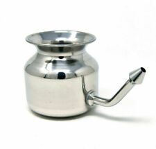 Neti Pot (Stainless Steel) for nasal irrigation, sinus congestion relief FAST SP