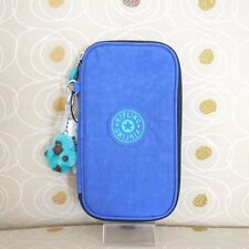 NWT Kipling Kay Pen Pencil Case Cosmetic Pouch Sailor Blue