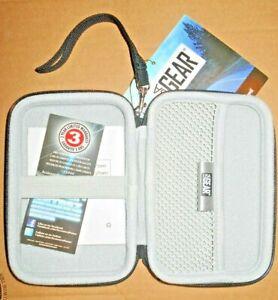 """USA Gear EVA Hard Shell 5"""" External Hard Drive Carrying Case Water Dust Zippered"""