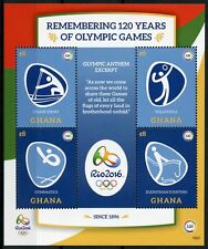 More details for ghana 2016 mnh olympic games 120 yrs rio summer olympics 4v m/s i stamps