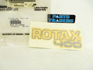 NOS Genuine Bombardier Rotax 400 Yellow Black Sticker Decal Outlander 400 04-05