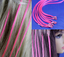 "18"" Pink Micro Loop Ring Human Hair Extensions 10 Strands"