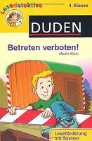 Betreten verboten!: 4. Klasse von Klein, Martin   Buch   Zustand gut
