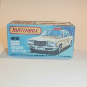 Matchbox Superfast 56 f Mercedes 450 SEL Taxi Repro K Style Empty Box
