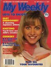 MY WEEKLY MAGAZINE 17/3/1990 EMBOIDERY PATTERN JAPANESE LADY, ALAN TITCHMARSH