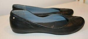 Ladies Rockport Adiprene Adidas black patent leather ballerina pumps UK 7/ EU 40
