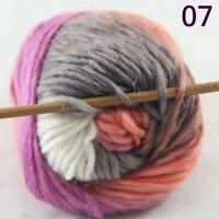 Sale 1 Ball x50g New Knitting Yarn Chunky  Colorful Hand Wool Wrap Scarves 07