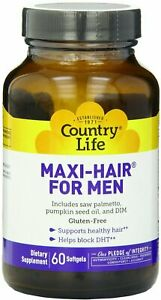 Maxi Hair For Men by Country Life, 60 softgels