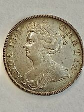 More details for 1707 queen anne halfcrown septimo s3604 gvf toned