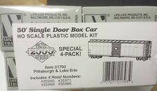 Pittsburgh Lake Erie Railroad 50' SD box cars Life Like P2K 21793 4 CAR KITS
