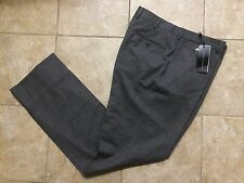 Ralph Lauren Black Label-Gray 100% Wool Flat Front Dress Pants Italy Men's Sz 38