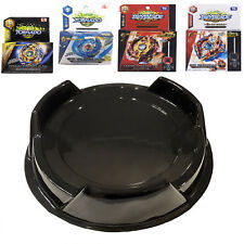 Ultimate Beystadium Burst Set 4 Beyblades Launcher + Black Stadium Fight Toy