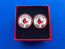 Boston Red Sox Cufflinks Logo Emblem Gift NEW