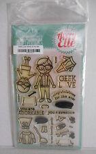 Avery Elle GEEK LOVE Clear Stamps & Die Elle-ments D-15-24 ST-15-24 NEW