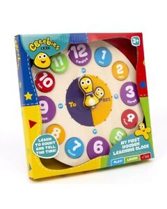 CBeebies My First Learning Clock Wooden Educational Toy Kids Children