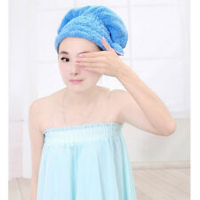 AT Magic Dry Hair Cap Shower Cap Super Absorbent Microfiber Towel Dry Hair C7Z