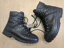 Genuine Meindl GoreTex Black Leather German Para Vibram Combat Boots Size 290M