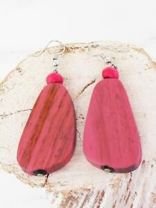 Wooden Pebble Earrings