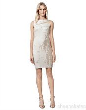 Julia Jordan Womens Coming and Going All Over Sequin Sheath Dress Sz 6 Champang