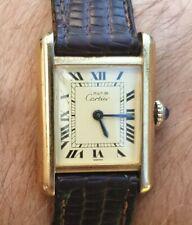 Vintage Must De Cartier Vermeil SERBATOIO mano ascensore 23.5mm dorato Art Deco