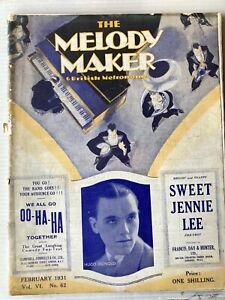 MELODY MAKER MAGAZINE, FEBRUARY 1931, HUGO RIGNOLD ETC!