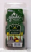 8 SC Johnson A Family Company Glade SAGE THYME MARKET Wax Melts Cubes 3.1 oz NEW