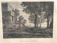 Claude Gellee Lorrain etching Print Tempio Di Venere Pietro Parboni Inc. 1836