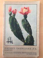 Friedrich Adolph Haage 1932 erfurt Nursery PLANT & SEEDS catalogue cactus book