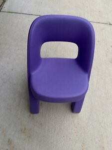 Purple Step 2 Criss Cross Child Plastic Chair for Table Playhouse Kitchen Sturdy