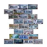 Car Number Plates License Garage Plaque Metal Tin Sign Bar Vintage Decor 15x30cm